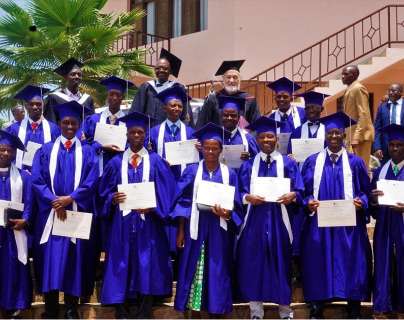 Graduates at theological college