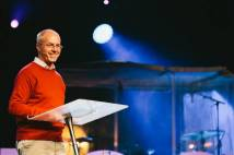 """Our calling is to be a holy people available to God at any cost to us."" Archbishop Justin at HTB Focus, Camber Sands, Mon 27 July 2015. (Picture: HTB Focus)"