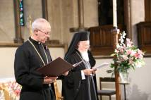 Archbishop Justin Welby and Patriarch Bartholomew in Lambeth Palace Chapel, 3 November 2015. (Photograph: Lambeth Palace)