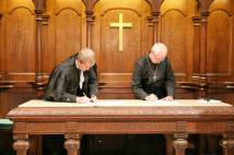 Archbishop and Moderator sign Columba Declaration