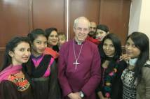 Archbishop Justin at Christ Church, Youhanabad, Pakistan, Sunday 20 November 2016.