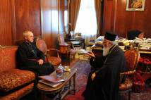 Archbishop Justin with Patriarch Bartholomew in Istanbul, January 2014.
