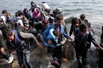 Syrian Refugees Land on T 009