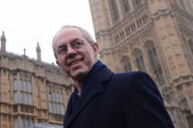Justin Welby outside the Houses of Parliament