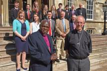Archbishops of York and Canterbury with young people at Bishopthorpe
