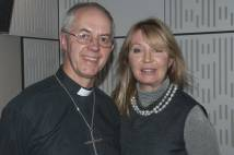 Archbishop Justin with Desert Island Discs presenter Kirsty Young.