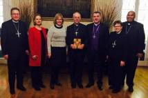 Archbishop Justin Welby with a delegation of church leaders from the Evangelical Lutheran Church in America.