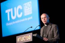 Justin Welby at the TUC