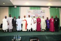 Justin Welby with religious leaders and former heads of state in Nigeria