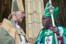 The Archbishop of Canterbury and York speaking together