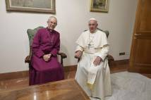 Pope Francis and Archbishop Justin Welby