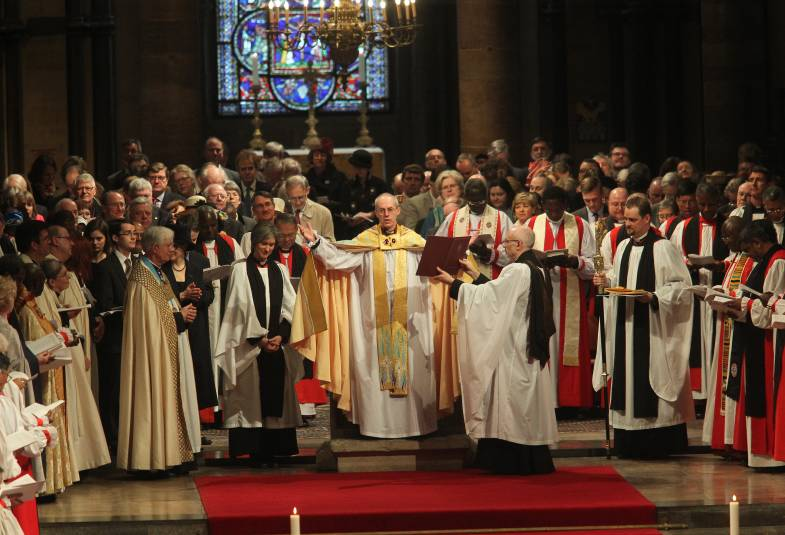 The enthronement of Justin Welby as Archbishop of Canterbury at Canterbury Cathedral in March 2013