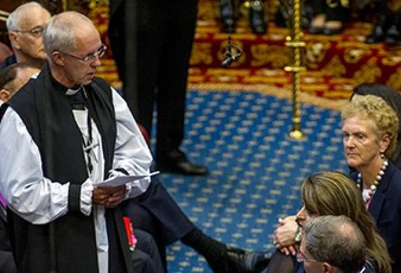 Justin Welby in the House of Lords
