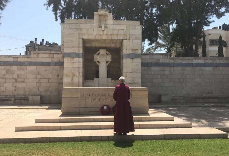 Archbishop Justin Welby visits the Gaza War Cemetery, Gaza, 4th May 2017.