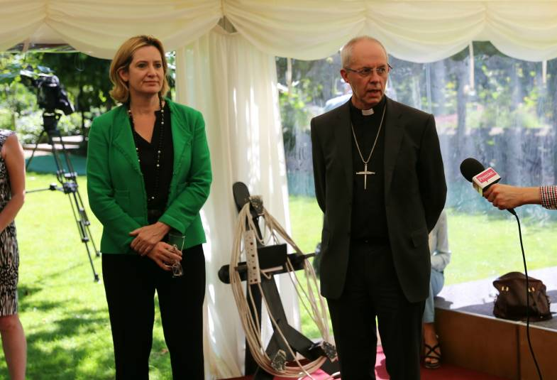 Archbishop Justin Welby joined the Home Secretary for the launch of the Full Community Sponsorship scheme.