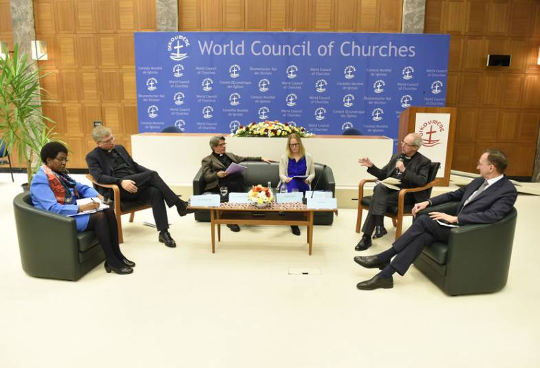 Justin Welby participating in a roundtable at WCC