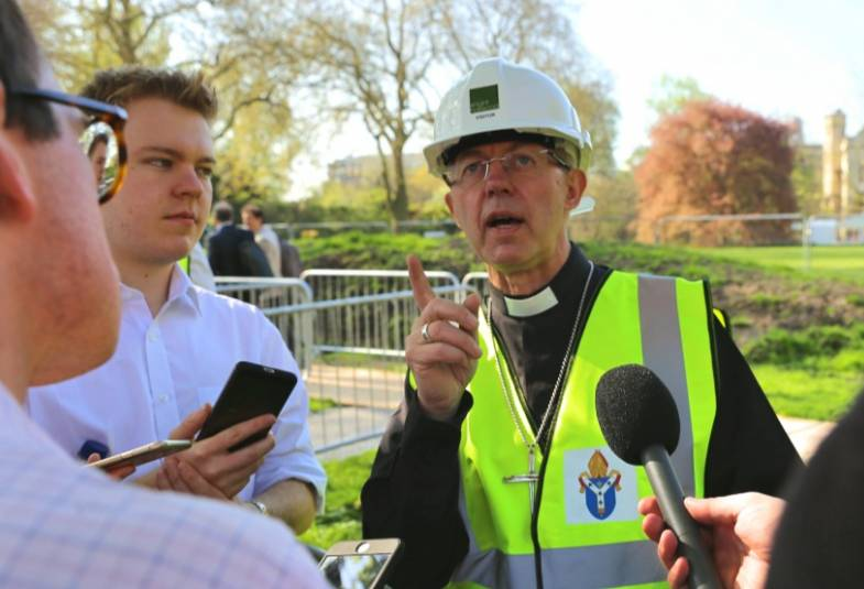 Justin Welby at Lambeth Palace Library