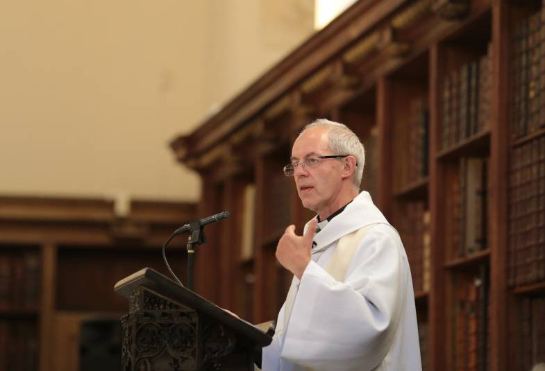 Justin Welby preaching