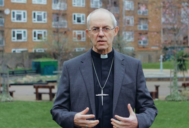 Justin Welby on housing estate in Lambeth