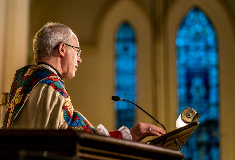 Justin Welby preaching in Hong Kong