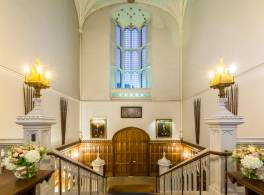 Inside the front entrance of Lambeth Palace