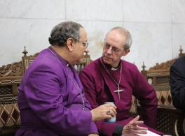 Justin Welby with Clergy