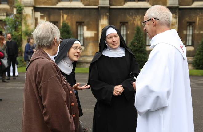 Justin Welby with nuns at lambeth palace