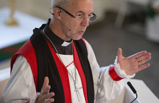 Justin Welby at Trinity Wall Street