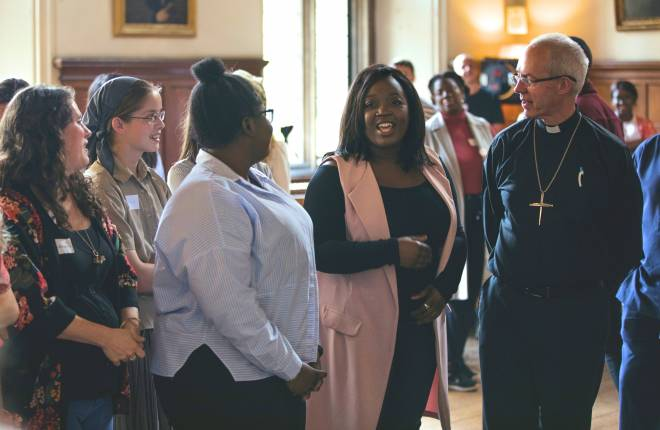 Justin Welby with young leaders